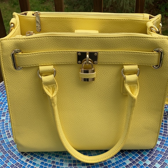 NWT Charming Charlie Faux Leather Yellow Purse